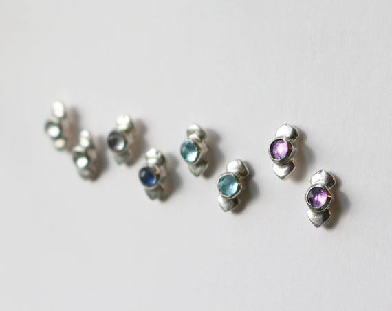 Earrings | Cima gemstone studs, handmade jewelry