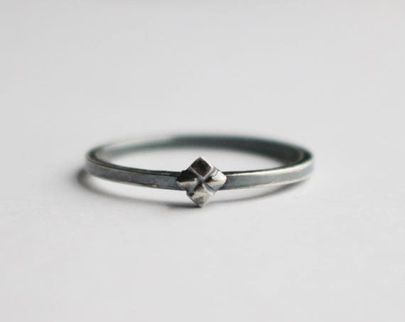 Ring | Silver Stella Stacking Ring, handmade jewelry