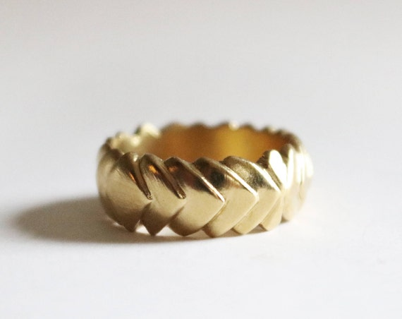Ring | Brass and Silver Armored Ring, handmade jewelry