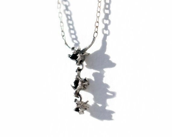 Handmade Tre Anguis Necklace in Sterling Silver | Cast Snake Vertebrae