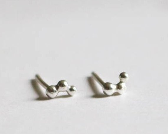 Earrings | Silver Cluster Studs, handmade jewelry