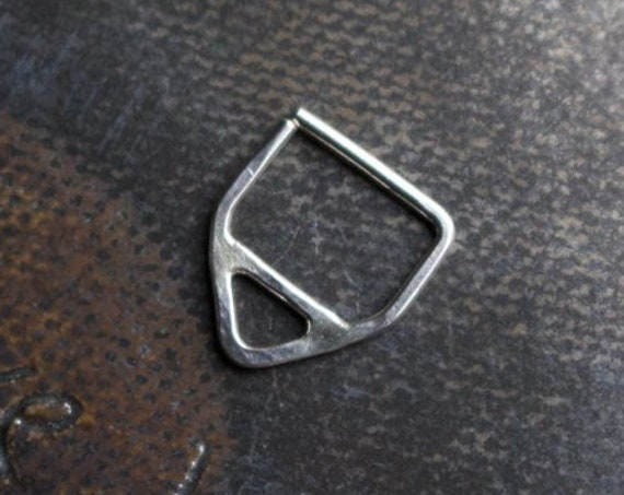 Handmade Sterling Silver Triangle Septum Ring | Body Jewelry