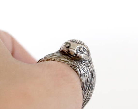 Sloth Ring in Silver or Brass