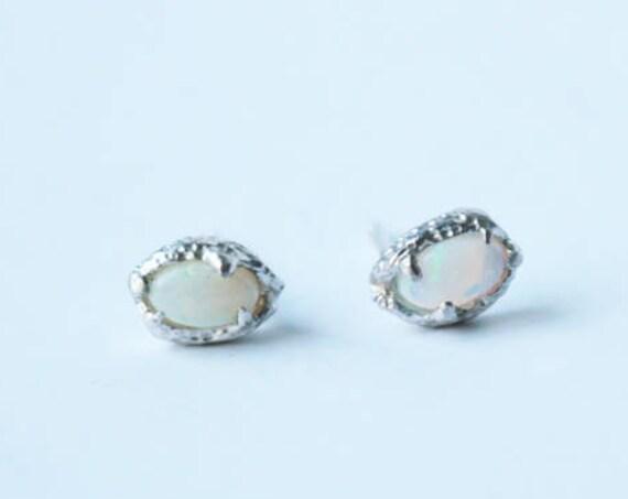 Opal Snake Eye Studs | handmade jewelry
