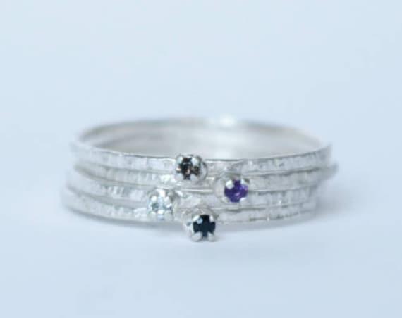 Ring | Silver Stacking Gemstone Ring, handmade jewelry