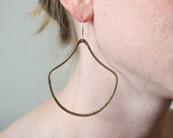Earrings | Brass Doorknockers, handmade jewelry