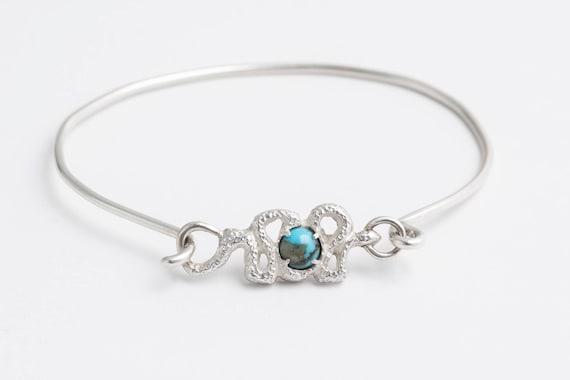 Turquoise Snake Bracelet | handmade jewelry