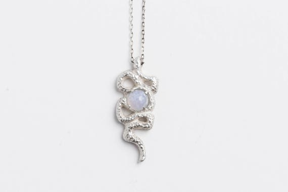 Chalcedony Snake Necklace | handmade jewelry