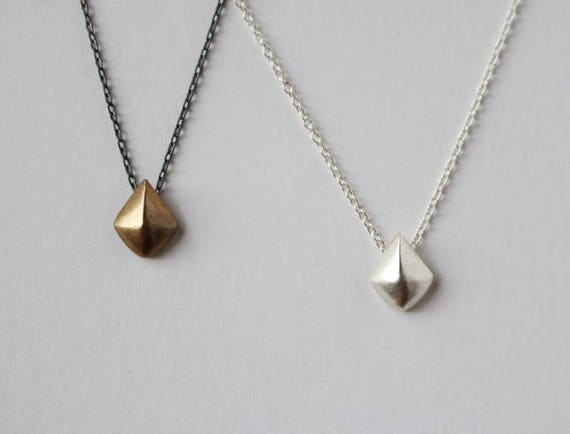 Tiny Shield Necklace | handmade jewelry