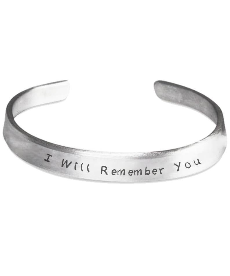 87a1c9b4913abb Będę pamiętać bransoletka pamiątka Biżuteria-w pamięci | Etsy