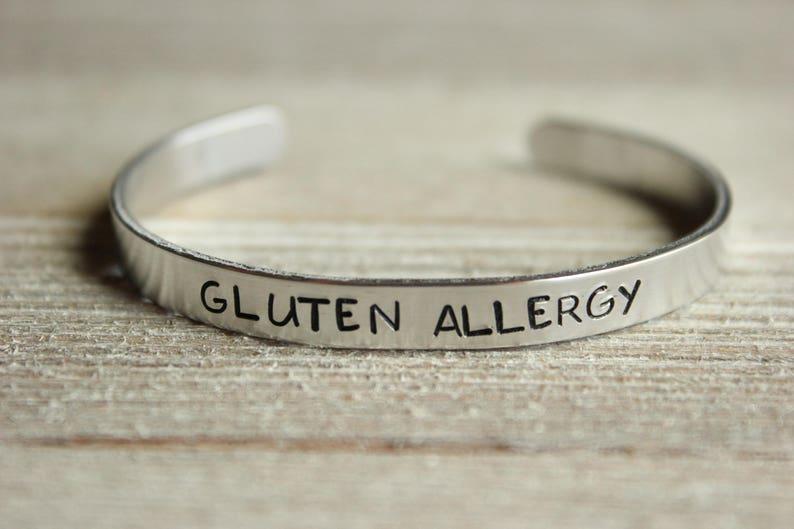 edf282c30c76 GLUTEN alergia brazalete de alerta médica ID libre de