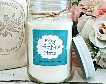 New Home Housewarming Gift -  New Home Candle - Housewarming Candle - New Home Gift - Housewarming Gift Personalized - Soy Candle Gift