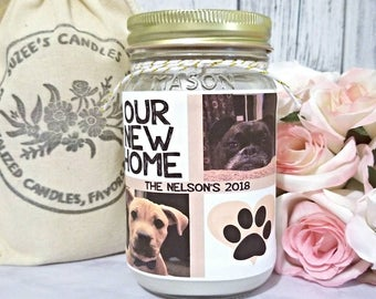 Housewarming Gift - Personalized Picture Candle - Pet lover Gift - Housewarming Candle - Soy Candle Gift - Picture Candle - Pet Candle
