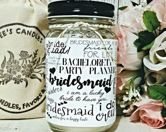 Bridesmaid Gift - Bridesmaid Candle - Gift for Bridesmaids - Bridesmaid Quote - Unique Bridesmaid Gift - Unique Gift - Soy Candle Gift