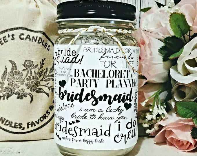 Bridesmaid Gift - Bridesmaid Candle - Gift for Bridesmaids - Bridesmaid Quote - Unique Bridesmaid Gift - Unique Gift - Soy Candle Gift