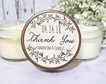 12 Rustic Wedding Favors - Wedding Rustic - Wedding Candle Favors - Rustic Favors for wedding - Wedding Party Favors - Rustic Candles Favor