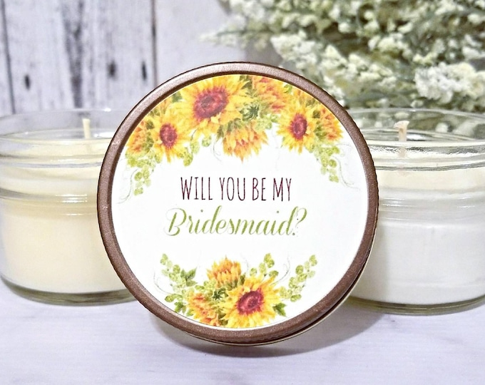 1 Rustic Bridesmaid Candle Favors - Rustic Wedding Candle Favors - Bridesmaid Proposal Candles - Rustic Bridesmaid Favors Bridesmaid