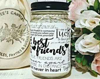 Best Friend Gift - Best Friend Candle - Soy Candle Gift - Best Friend Birthday Gift - Girl Friend Gift - Scented Soy Candle - Friend Candle