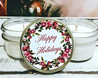 Christmas Party Favors - Christmas Candle Favors - Corporate Party Favor - Christmas Gifts - Holiday Party Favor - Candle Party Favors