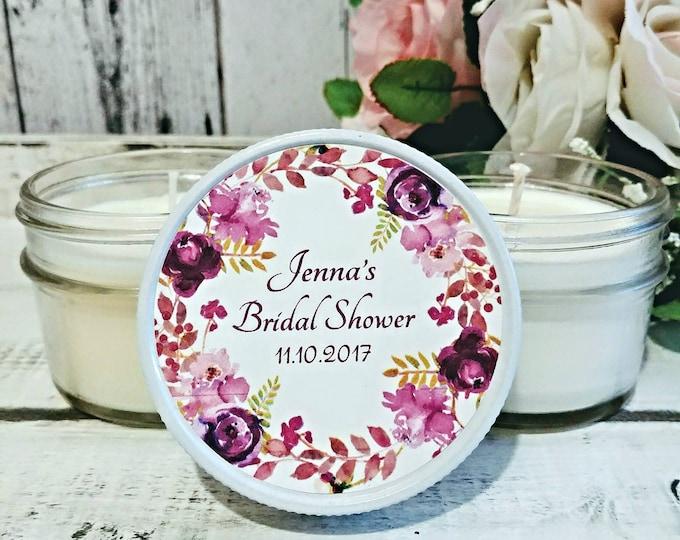 Bridal Shower Favors Candles - Bridal Shower Candle Favors - Bridal Shower Party Favors - Soy Candles - Wedding Candle Favor - Set of 12