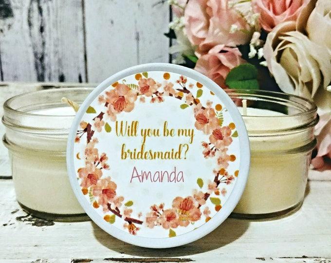 Will You Be My Bridesmaid - Candle Favor - Bridesmaid Candle - Bridesmaid Proposal - Bridesmaids Gift - Asking Bridesmaid - BridesMaids