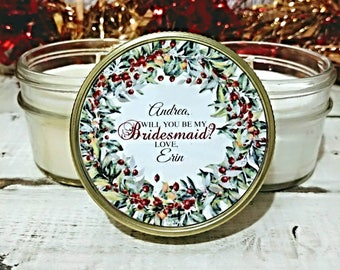 1 Christmas Bridesmaid Proposal - Christmas Gift For Bridesmaids - Bridesmaid Christmas - Will You Be My Bridesmaid - Bridesmaid Gifts