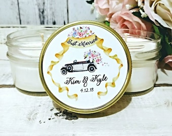 Wedding Favors - Wedding Favor Candles -  Wedding favor for Guests - Soy Candle Favors - Soy Candle Wedding favor - Set of 12 4oz