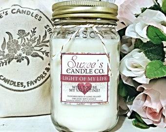 Valentine Day Gift - Valentine Day Candle Gift - Valentine for him - Valentine Candle - Will you be my valentine - Valentine Gift Candle