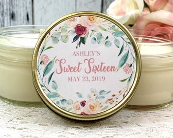 Birthday Party Favors - Sweet 16 Birthday Favors - Birthday candle favors - Birthday Party - Sweet 16 Party Favors