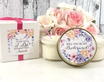 Will you be my bridesmaid Candle - Asking Bridesmaid - Will you be maid of honor - Bridesmaid Proposal Candle - Bridesmaid Candle