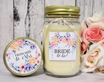 Bride To Be Gift - Bride To Be Candle - From Miss To Mrs - gift for the bride - Bride to Be - Bride Gift - Soy Candle wedding - 16oz Candle