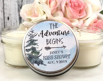 12 Adventure begins Baby Shower Favors -  Adventure Baby Shower Favor - Mountain Baby shower - Baby shower - Gender Neutral Baby Shower