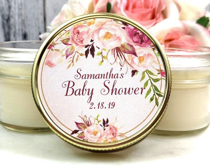 Pink and Gold Baby Shower favors - Pink and gold Baby Shower - Blush Baby Shower - Pink and gold Favors - Baby Girl Shower - Pink Favors