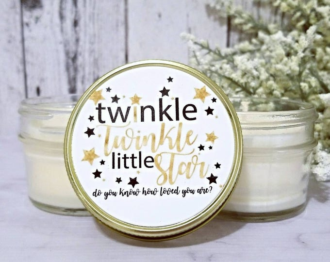 12 Baby Shower Favors Twinkle Twinkle Little Star Baby Shower Favors - Neutral Baby Shower Favors - Twinkle Little Star Baby Shower