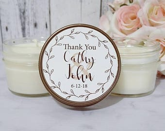 Rustic Wedding Candles Favors - Rustic Wedding Favors - Wedding Soy Candles - Rustic Wedding - Barn wedding favors - Soy Candles Set of 12