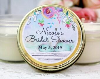 Bridal Shower Candle Favors - Bridal Shower Soy Candle Favors - Spring Bridal Shower Favors - Bridal Party Favor Candles - Set of 12 - 4oz