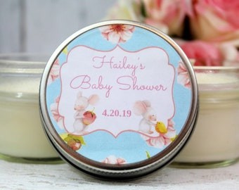 12 Spring Baby Shower Favors - Baby Shower Candle Favors - Spring Baby Shower Party Favors - Neutral Baby Shower Favors - Spring Favors