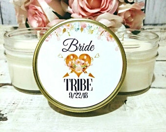 1 Bridesmaid Candles - Soy Candles - Bride Tribe Candles - Bride Tribe Shower Favors - Team Bride Favors - Bride Tribe - Bridesmaids Favors