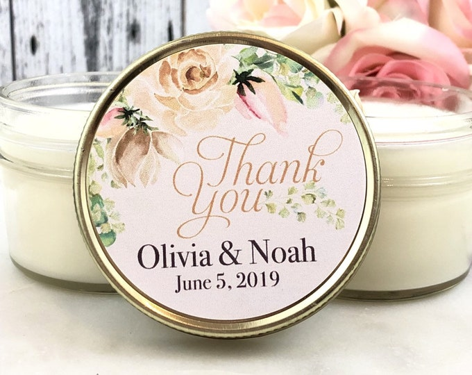 Blush and Gold Wedding Favor - Blush and gold wedding - Wedding Candle Favor - Wedding Favor Candles - Blush wedding Favors Set of 12