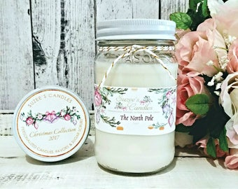 Christmas Soy Candle - Soy Candle Scents - Christmas Scented Soy Candle - Soy Candle Gift - Hostess Gift - Scented Candle - Christmas Gift
