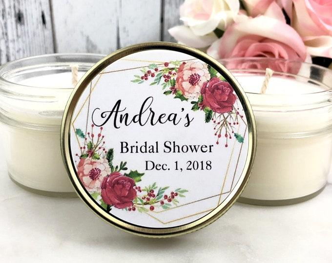 Winter Bridal Shower Favors - Bridal Shower Candle Favors - Winter Bridal Shower - Winter Favors - Christmas Bridal Shower shower favors