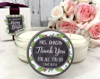 Teacher Christmas gifts - Christmas gift for teacher - Thank You Teacher gift - Thank You Teacher - Teacher Christmas - Teacher candle Gift