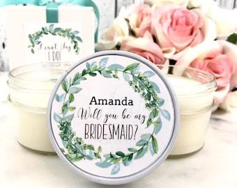 1 Bridesmaid Proposal Gift - Greenery Bridesmaid Proposal - Bridesmaids Proposal Box - Bridesmaid Proposal Gift sets / Maid Of Honor