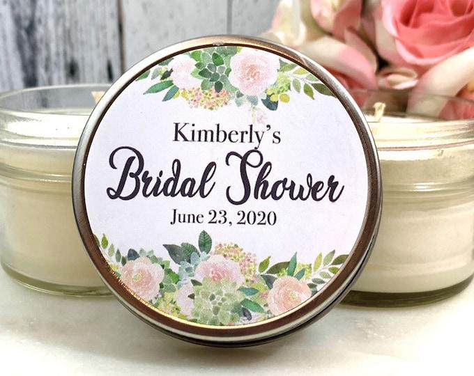 Succulent Bridal Shower Favors - Succulent Bridal Shower - Bridal Shower Favors Candles - Succulent Wedding - Bridal Shower Candle Set of 12