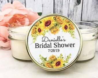 Sunflower Bridal Shower Favors - Rustic Bridal Shower Favors - Sunflower Wedding - Rustic Sunflower Bridal Shower - Fall Bridal Shower Favor