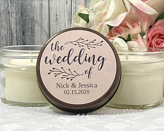 Rustic wedding favors - Rustic Favors - the Wedding - Rustic Candle Favor - Wedding Favor Candles - Rustic Wedding Favors For guests