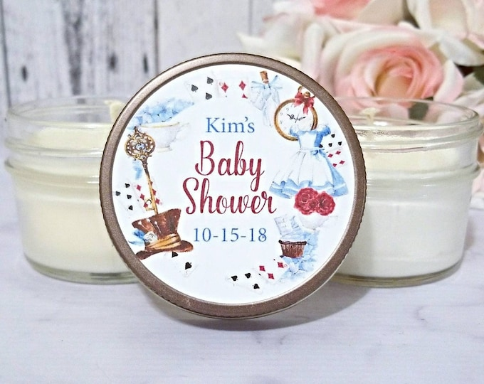 Baby Shower Favors Candles - Alice in wonderland baby Shower Favors - Baby Shower Candle Favors - Baby Shower Prizes - Set of 12