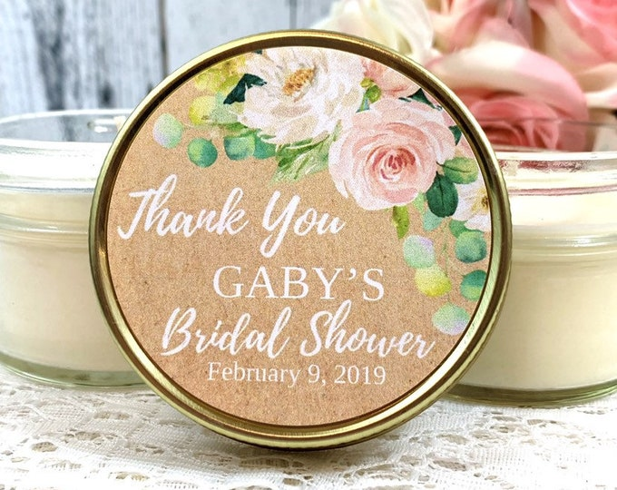 Bridal Shower Favors Candles - Bridal Shower Candle Favors - Bridal Shower Party Favors - Soy Candles - Wedding Candle Favor - Set of 12