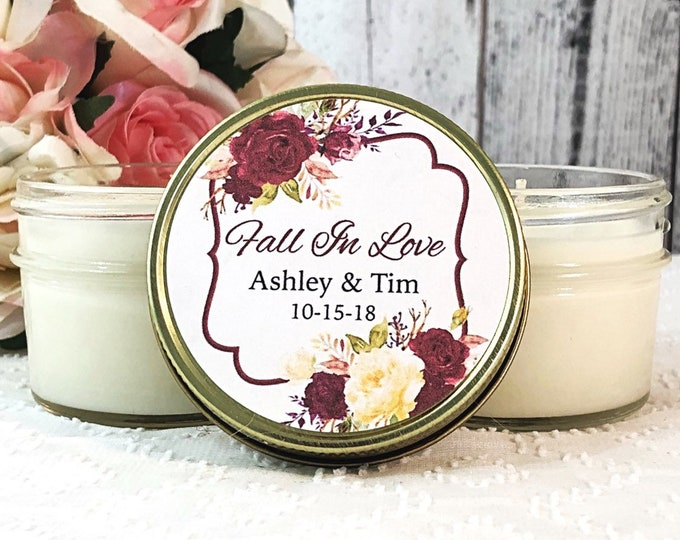 Fall Wedding Favors - Fall In Love Wedding Favors - Wedding Favors Candles - Fall Favors - Fall Candles Wedding Favor - Fall Wedding