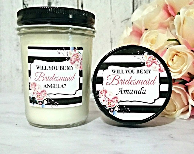 Bridesmaid Proposal Candle - Will You Be my Bridesmaid - Bridesmaid Candle - Bridesmaid Proposal - Bridesmaid Gift - Soy Candle